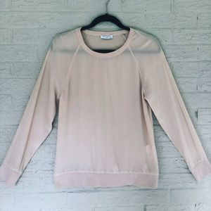 Rare Silk Equipment Blouse Long Sleeve Blush Pink